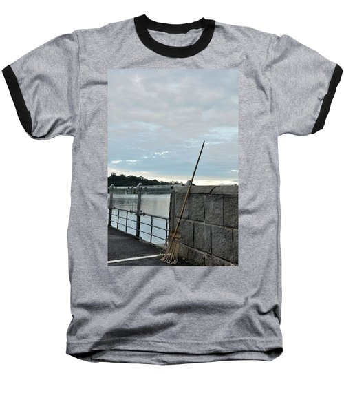Baseball T-Shirt featuring the photograph Rake Rests Itself After A Hard Days Work by Imran Ahmed