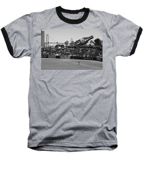 Raking The Lawn Baseball T-Shirt