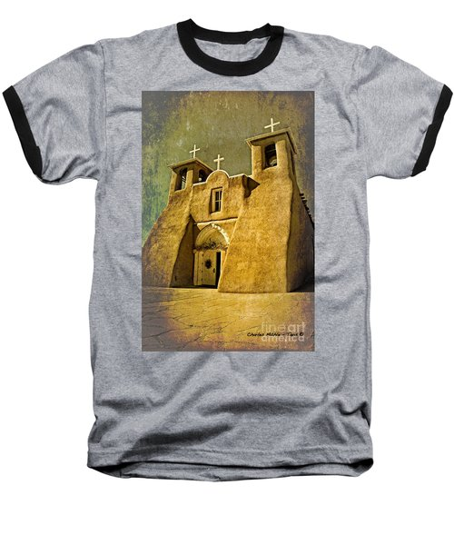 Ranchos Church In Old Gold Baseball T-Shirt