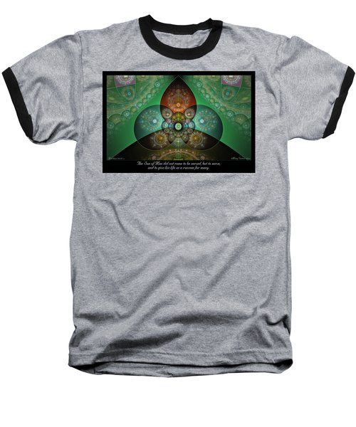 Baseball T-Shirt featuring the digital art Ransom by Missy Gainer