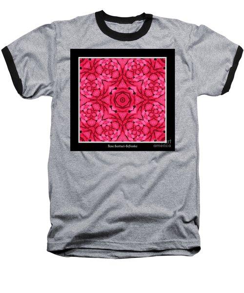 Ranunculus Flower Warp Baseball T-Shirt by Rose Santuci-Sofranko