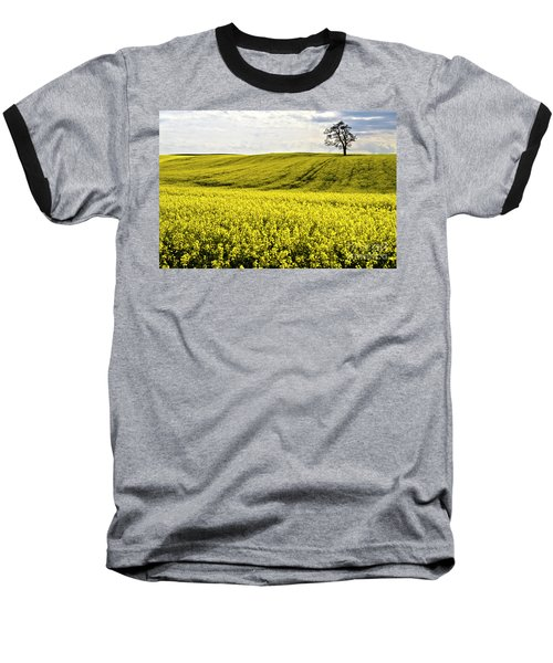 Rape Landscape With Lonely Tree Baseball T-Shirt