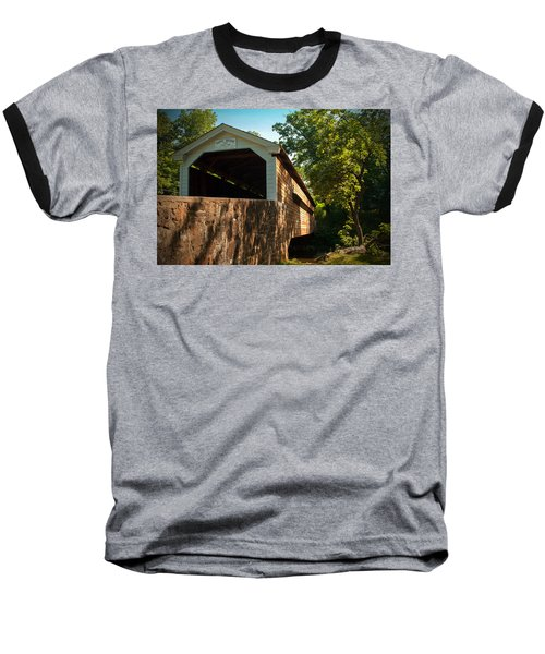 Rapps Covered Bridge Baseball T-Shirt by Michael Porchik