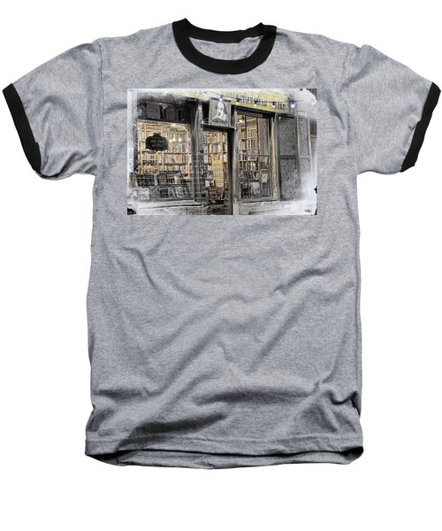Rare Books Latin Quarter Paris France Baseball T-Shirt