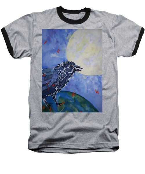 Raven Speak Baseball T-Shirt