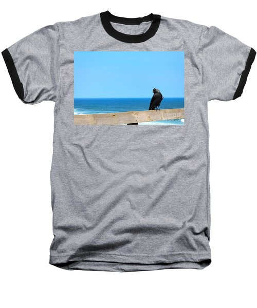 Baseball T-Shirt featuring the photograph Raven Watching by Peta Thames