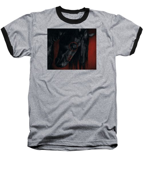 Baseball T-Shirt featuring the painting Raven Wing by Pat Erickson