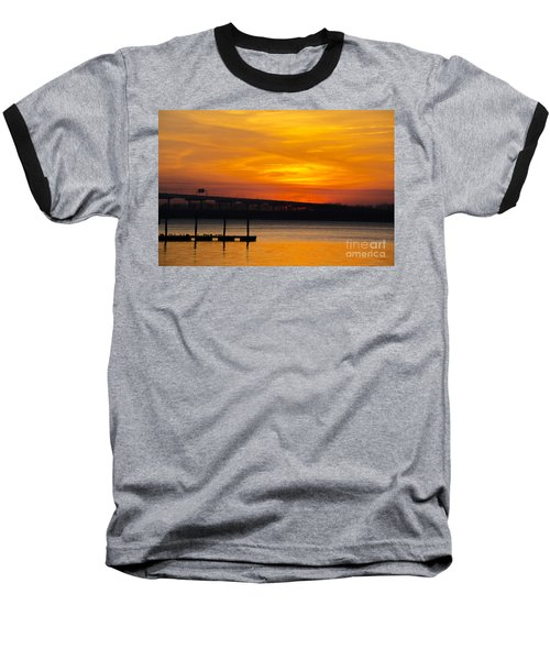 Baseball T-Shirt featuring the photograph Orange Blaze by Dale Powell