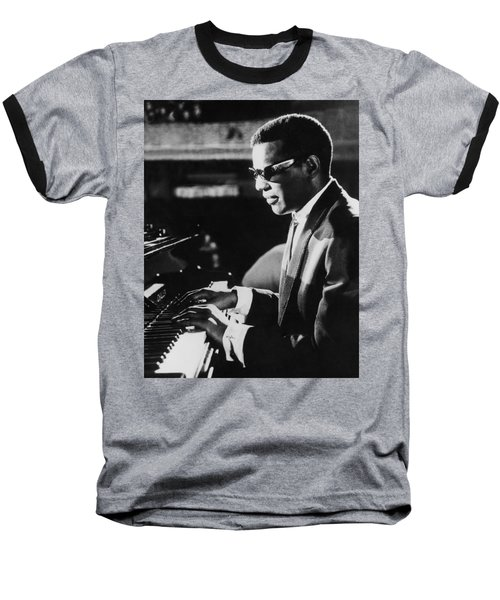 Ray Charles At The Piano Baseball T-Shirt