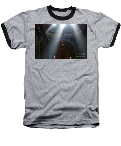 Rays Of Hope St. Peter's Basillica Italy  Baseball T-Shirt by Bob Christopher