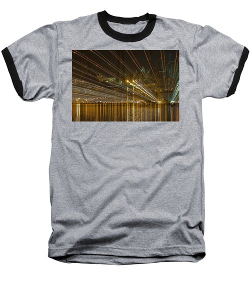 Rays Over The Bay Baseball T-Shirt by Gary Holmes