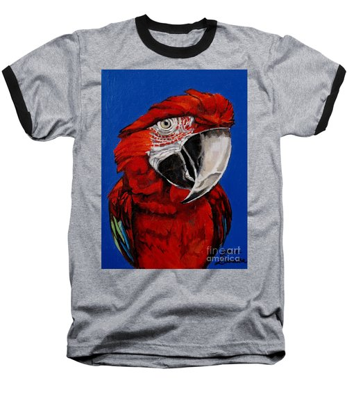 Razzy Red - Bird- Macaw Baseball T-Shirt
