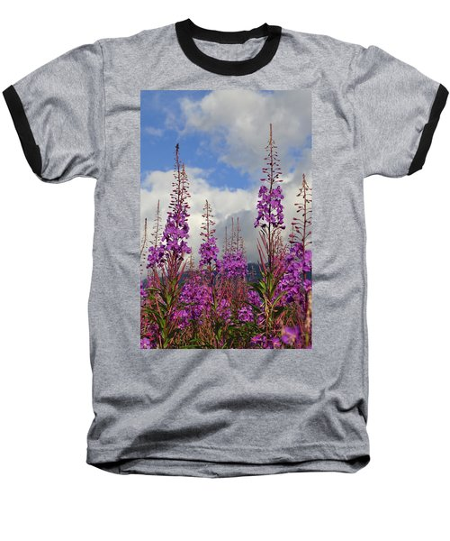 Baseball T-Shirt featuring the photograph Reach For The Sky by Cathy Mahnke