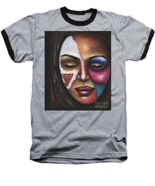 Baseball T-Shirt featuring the painting Reaching Deep Within by Alga Washington