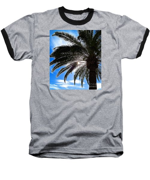 Reaching For Heaven Baseball T-Shirt by Margie Amberge