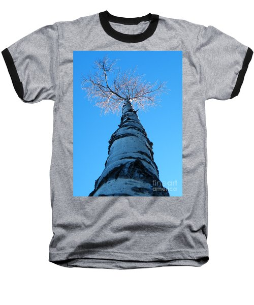 Reaching For The Light Baseball T-Shirt by Brian Boyle