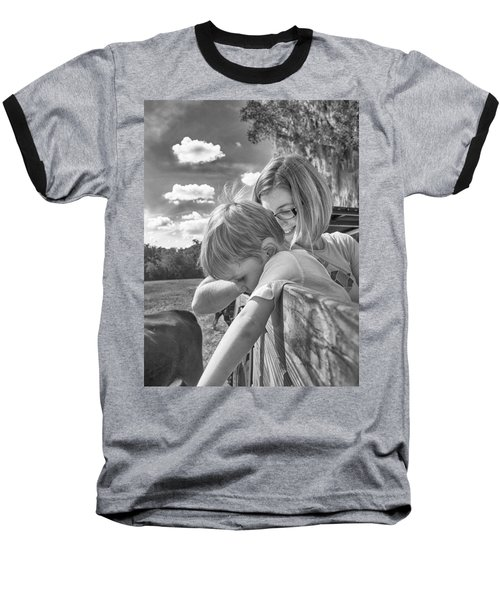 Baseball T-Shirt featuring the photograph Reaching by Howard Salmon