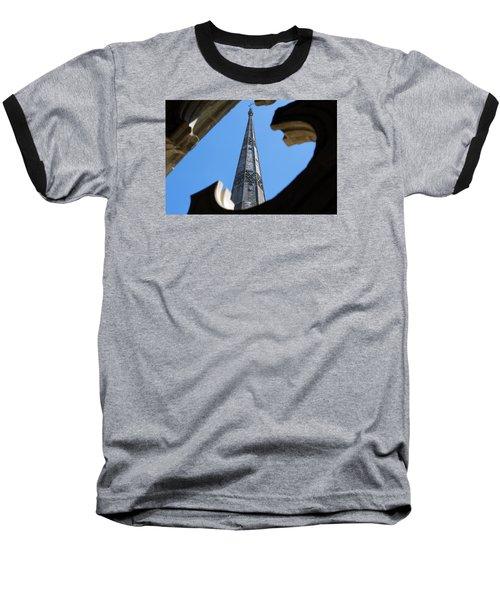 Reaching Towards Heaven Baseball T-Shirt by Wendy Wilton