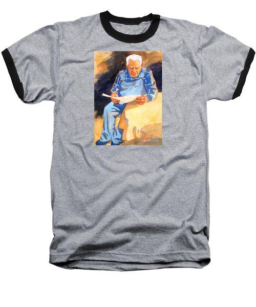 Reading Time Baseball T-Shirt by Kathy Braud