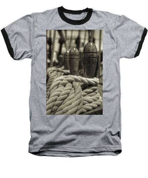 Ready For Work Black And White Sepia Baseball T-Shirt