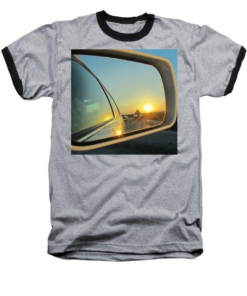Rear View Sunset Baseball T-Shirt