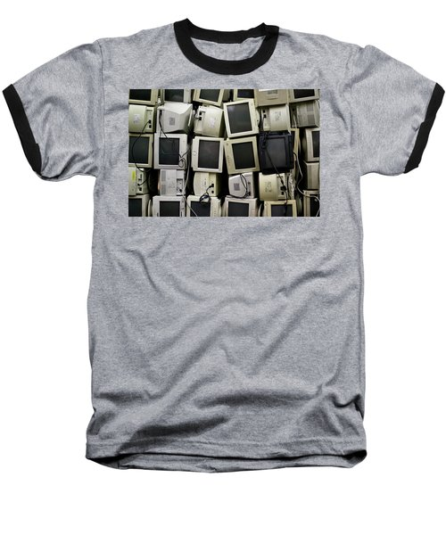 Recycled Computer Monitors Baseball T-Shirt