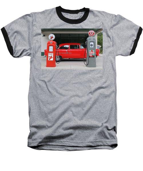 Red 55 Baseball T-Shirt by Lynn Sprowl