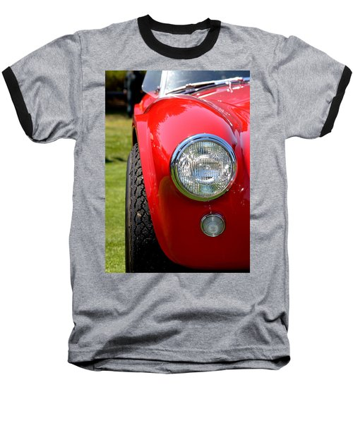 Baseball T-Shirt featuring the photograph Red Ac Cobra by Dean Ferreira