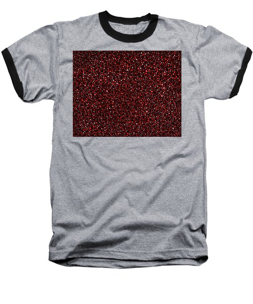 Red And Black Circles Baseball T-Shirt