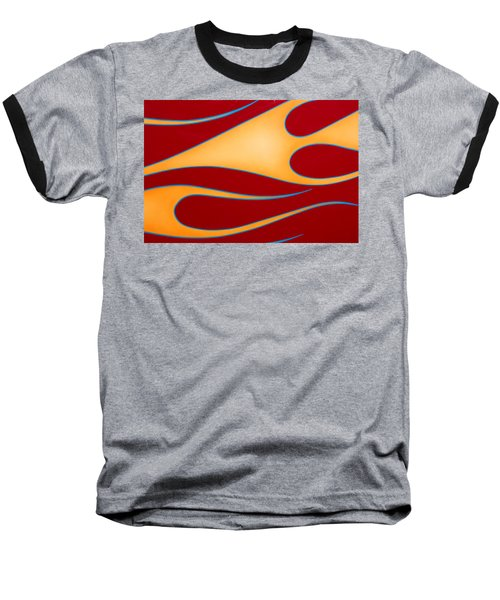 Baseball T-Shirt featuring the photograph Red And Gold by Joe Kozlowski