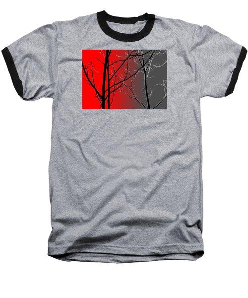 Red And Gray Baseball T-Shirt by Cynthia Guinn