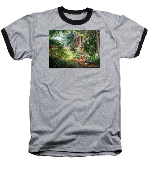 Baseball T-Shirt featuring the painting Poppies Season In The Garden  by Irina Sztukowski