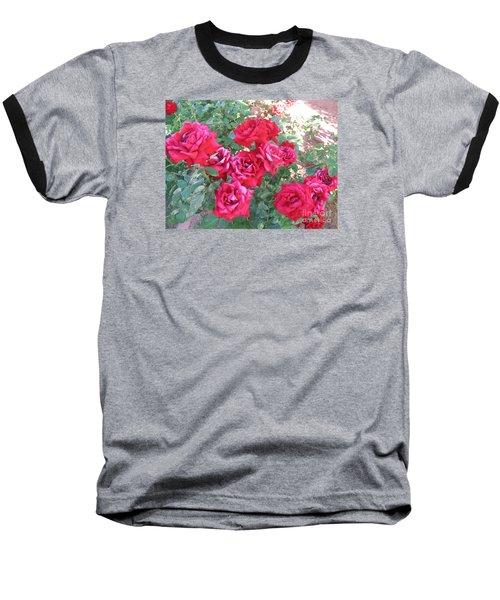 Red And Pink Roses Baseball T-Shirt