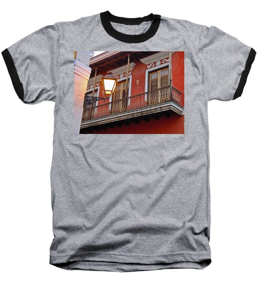 Red Balcony Baseball T-Shirt
