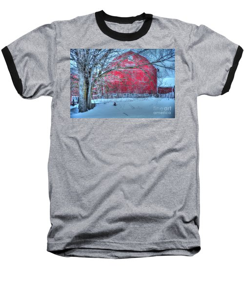 Red Barn In Winter Baseball T-Shirt
