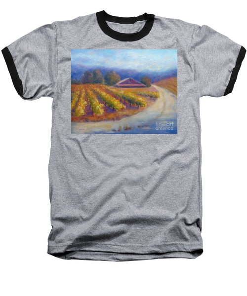 Red Barn Vineyard Baseball T-Shirt
