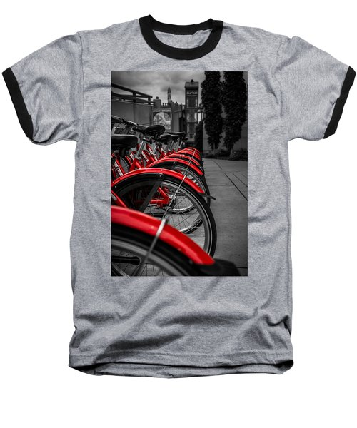 Red Bicycles Baseball T-Shirt