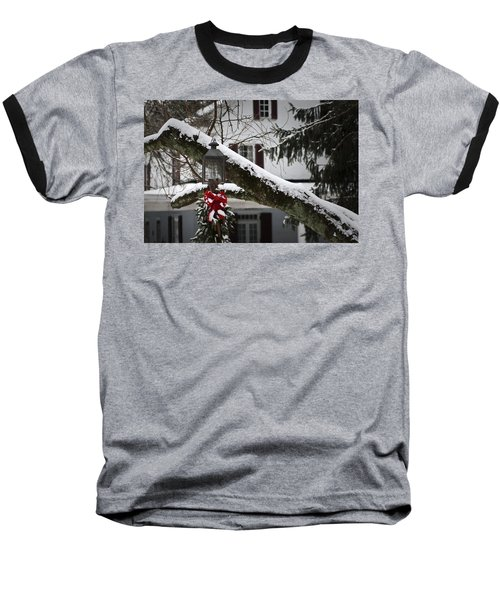 Red Bow Candle Light Baseball T-Shirt