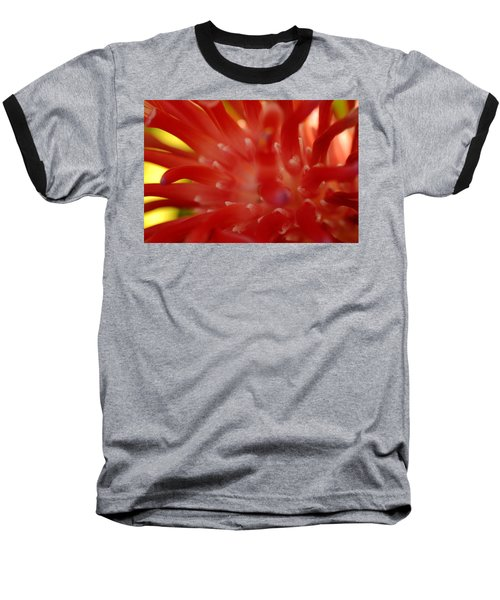 Baseball T-Shirt featuring the photograph Red Bromeliad by Greg Allore