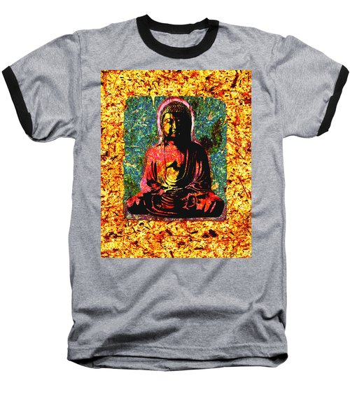 Red Buddha Baseball T-Shirt