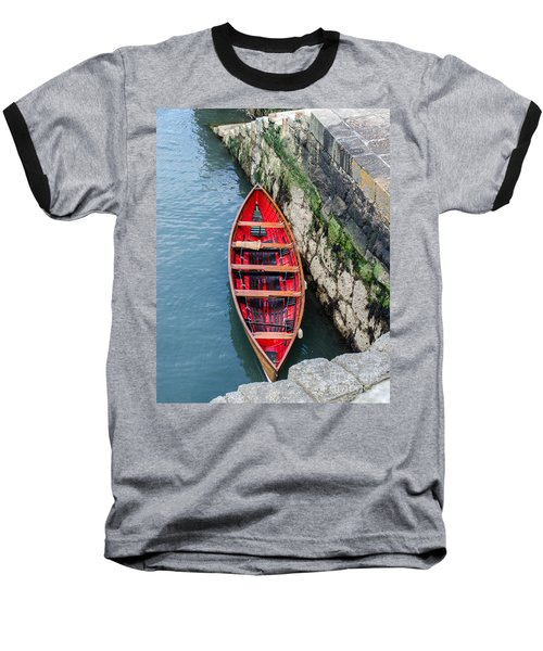 Red Canoe Baseball T-Shirt by Mary Carol Story