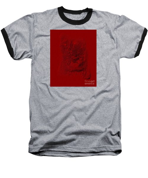 Red Cat Collection. Special... Baseball T-Shirt by Oksana Semenchenko