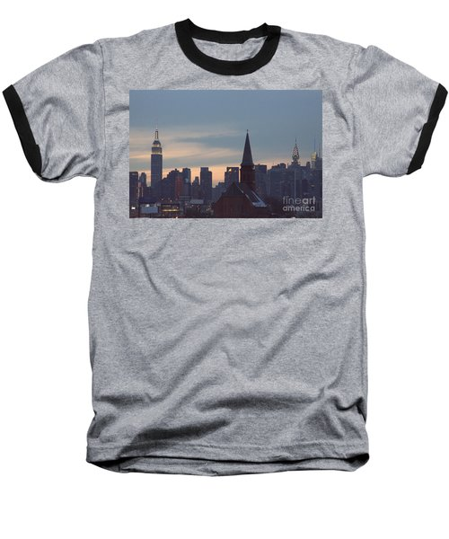Baseball T-Shirt featuring the photograph Red Church by Steven Macanka