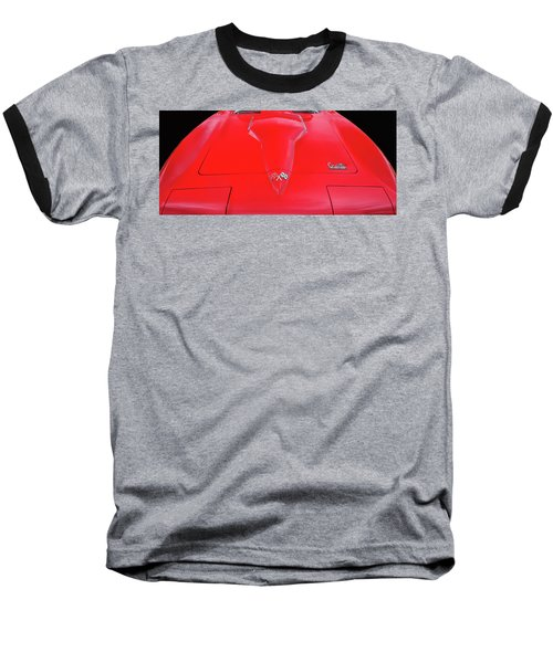Baseball T-Shirt featuring the photograph Red Corvette by Dave Mills