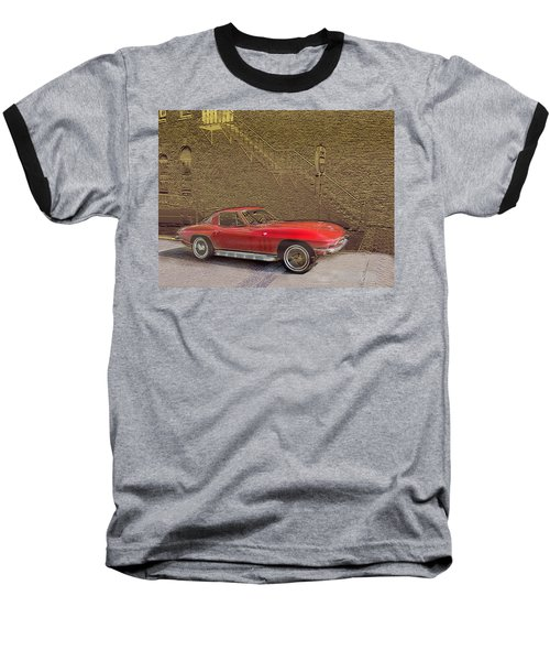 Red Corvette Baseball T-Shirt