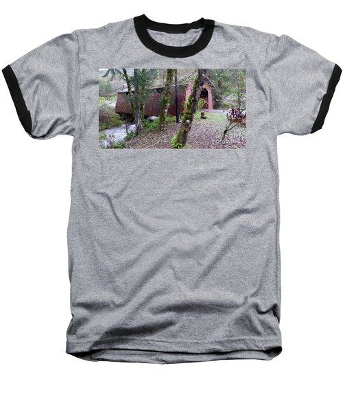 Red Covered Bridge  Baseball T-Shirt