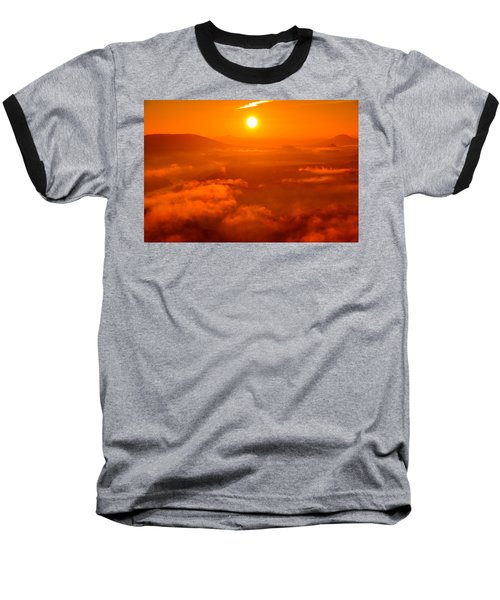 Red Dawn On The Lilienstein Baseball T-Shirt