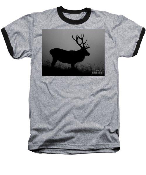 Wildlife Red Deer Stag Silhouette Baseball T-Shirt
