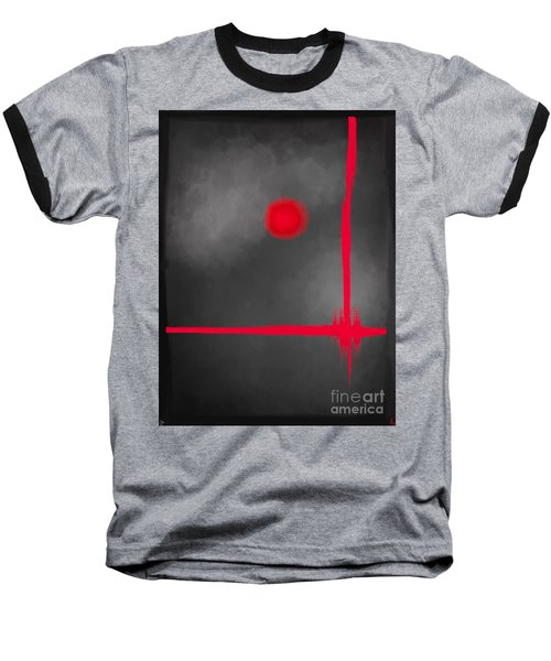 Red Dot Baseball T-Shirt by Anita Lewis