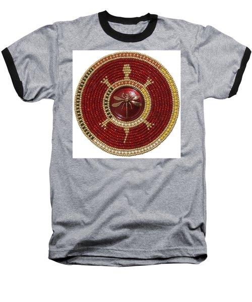 Red Dragonfly Baseball T-Shirt